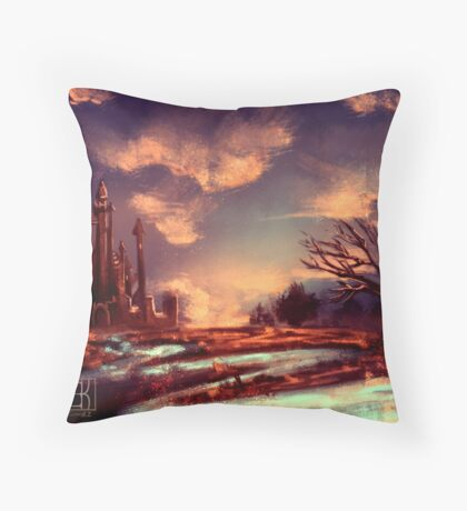 Beyond all Towers Strong and High Throw Pillow
