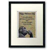 Funny valentine card Framed Print