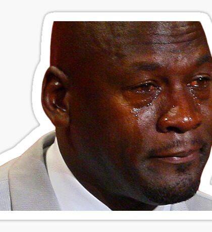 Michael Jordan Crying Face Sticker