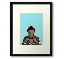 Doctor Who: Bow Ties are Cool (Matt Smith) Framed Print