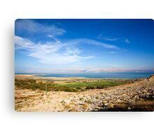 View of the Dead Sea, Israel  Canvas Print