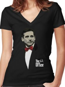 The Office: Godfather Michael Scott Women's Fitted V-Neck T-Shirt