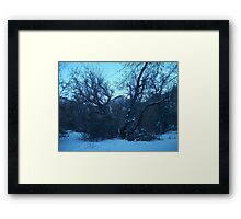 Frozen Rockies  Framed Print
