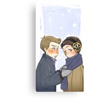 Dean/Castiel - Winter Canvas Print