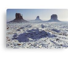Monument Valley in the snow Canvas Print