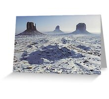 Monument Valley in the snow Greeting Card