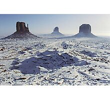 Monument Valley in the snow Photographic Print
