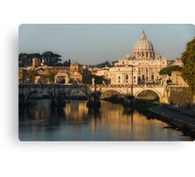 St Peter's Morning Glow - Impressions Of Rome Canvas Print
