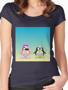 two little penguins Women's Fitted Scoop T-Shirt