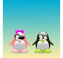 two little penguins Photographic Print