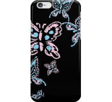 Illustration handmade drawing pastel chalks butterfly iPhone Case/Skin