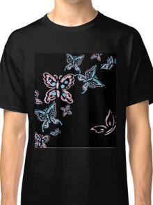 Illustration handmade drawing pastel chalks butterfly Classic T-Shirt