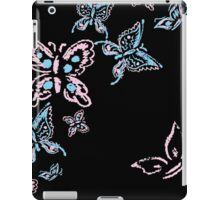 Illustration handmade drawing pastel chalks butterfly iPad Case/Skin