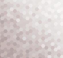Gray Tones Hexagonal Pattern by snja