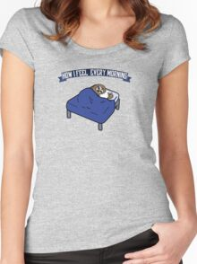 How I feel every morning (like a sloth) Women's Fitted Scoop T-Shirt