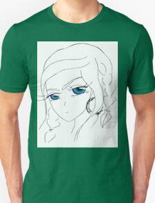 Anime girl with blue eyes Unisex T-Shirt
