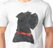 Miniature Black Schnauzer Head Shot Unisex T-Shirt