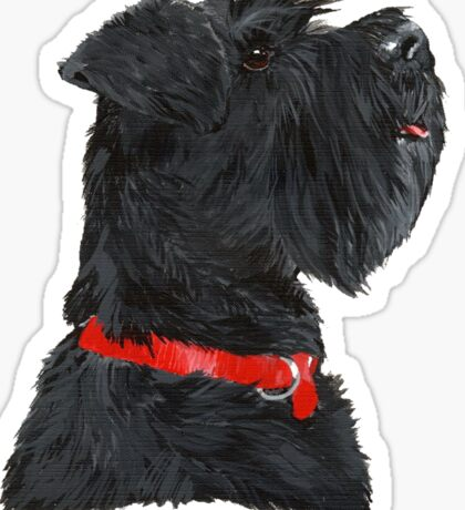 Miniature Black Schnauzer Head Shot Sticker
