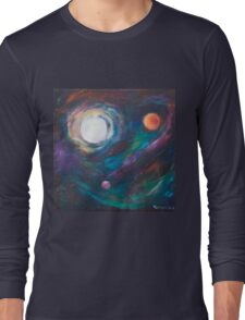 Original Acrylic Painting View from Starbase 27. Long Sleeve T-Shirt