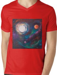 Original Acrylic Painting View from Starbase 27. Mens V-Neck T-Shirt