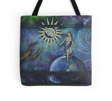 Earth and Moon Tote Bag