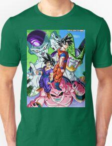 Goku , Gohan , Boo , Freezer & Cell - Dragon ball Z T-Shirt