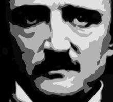 Black and white vector art, Edgar Allan Poe  Sticker