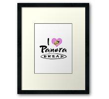 I Love Panera Bread Framed Print