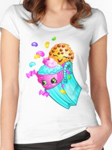 Shopkins basket 3 Women's Fitted Scoop T-Shirt