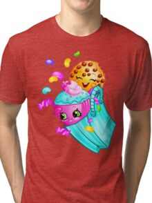Shopkins basket 3 Tri-blend T-Shirt