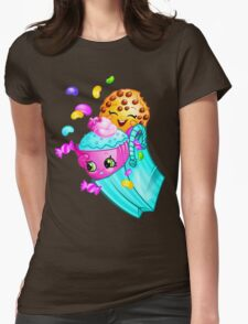 Shopkins basket 3 Womens Fitted T-Shirt
