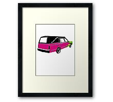 Pink Hearse Framed Print