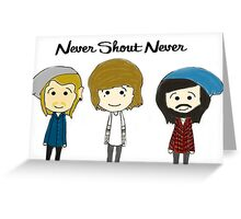 nevershoutnever cartoon drawing Greeting Card