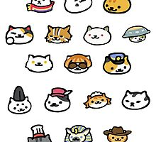Neko Atsume Rare Cats! by jjdough