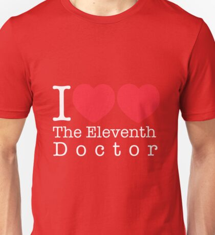 I Heart Heart The Eleventh Doctor Unisex T-Shirt
