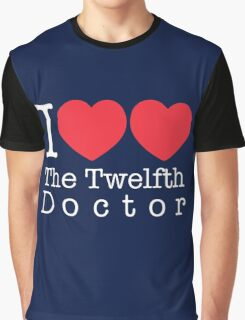 I Heart Heart The Twelfth Doctor Graphic T-Shirt