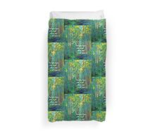 Stand Firm in Your Faith Duvet Cover