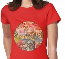 Vintage Hawaii Travel Colorful Hawaiian Tropical Collage Womens Fitted T-Shirt