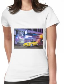TOYOTA Supra in Yellow  Womens Fitted T-Shirt