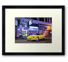 TOYOTA Supra in Yellow  Framed Print