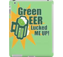 Green Beer Luck iPad Case/Skin