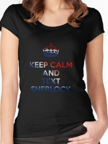 Keep Calm And Text Sherlock Women's Fitted Scoop T-Shirt