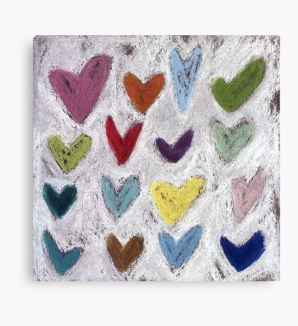 Happy Hearts I Canvas Print