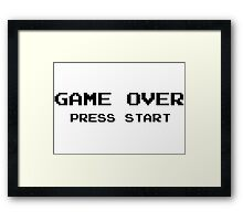 Game Over Pc Vintage Ninetendo Framed Print