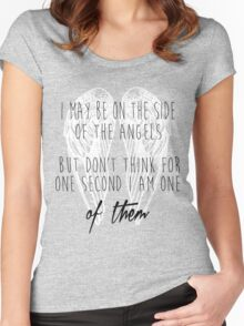 Side of the Angels (WHITE) Women's Fitted Scoop T-Shirt