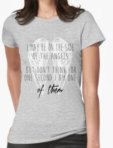 Side of the Angels (WHITE) Womens Fitted T-Shirt