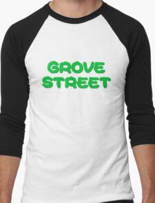 GTA San Andreas Game PC XBOX Playstation Grove Street Quotes CJ Men's Baseball ¾ T-Shirt
