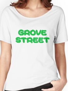 GTA San Andreas Game PC XBOX Playstation Grove Street Quotes CJ Women's Relaxed Fit T-Shirt