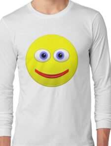 Smiley With Big Blue Eyes Long Sleeve T-Shirt