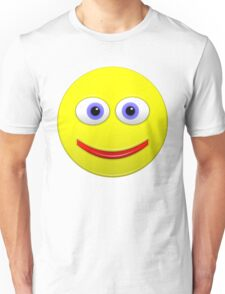 Smiley With Big Blue Eyes Unisex T-Shirt